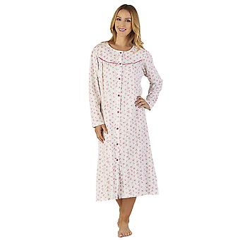 Terra Jersey notte floreale abito Loungewear camicia da notte Slenderella ND2113 donna