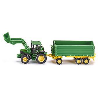 SIKU John Deere tracteur/chargeur & remorque échelle 1: 87