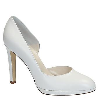 Wit jong geitje d'orsay pompen leerschoenen voor bruid