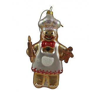 Glass pepperkake mann Collectable, Gisela Graham Christmas utvalg