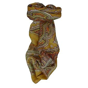 Maulbeere traditionelle quadratischen Seidentuch Jaya Gold von Pashmina & Seide