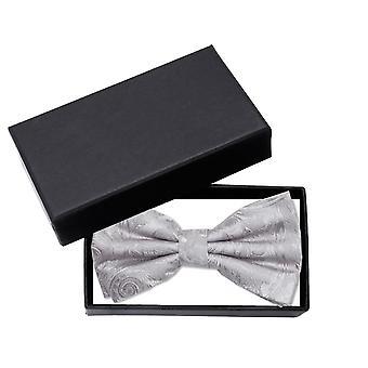 Fly silver Paisley Muster wedding ornaments Fabio Farini bow tie