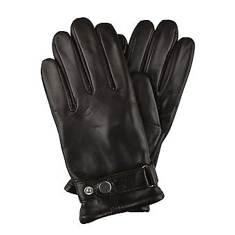 Martin Brown Mens Leather Gloves in Cognac