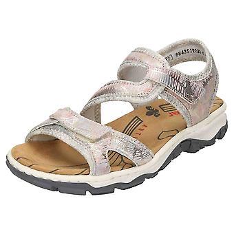 Rieker sandalias de Open Toe charol cuero 68869-90