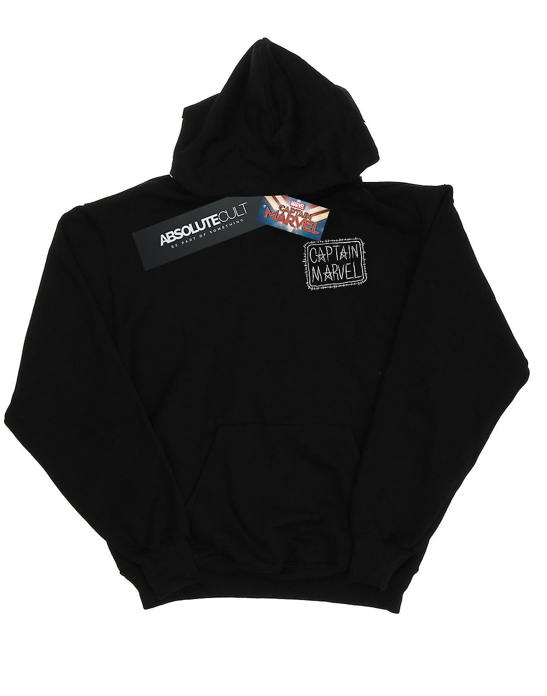 Marvel Girls Captain Marvel Breast Patch Hoodie