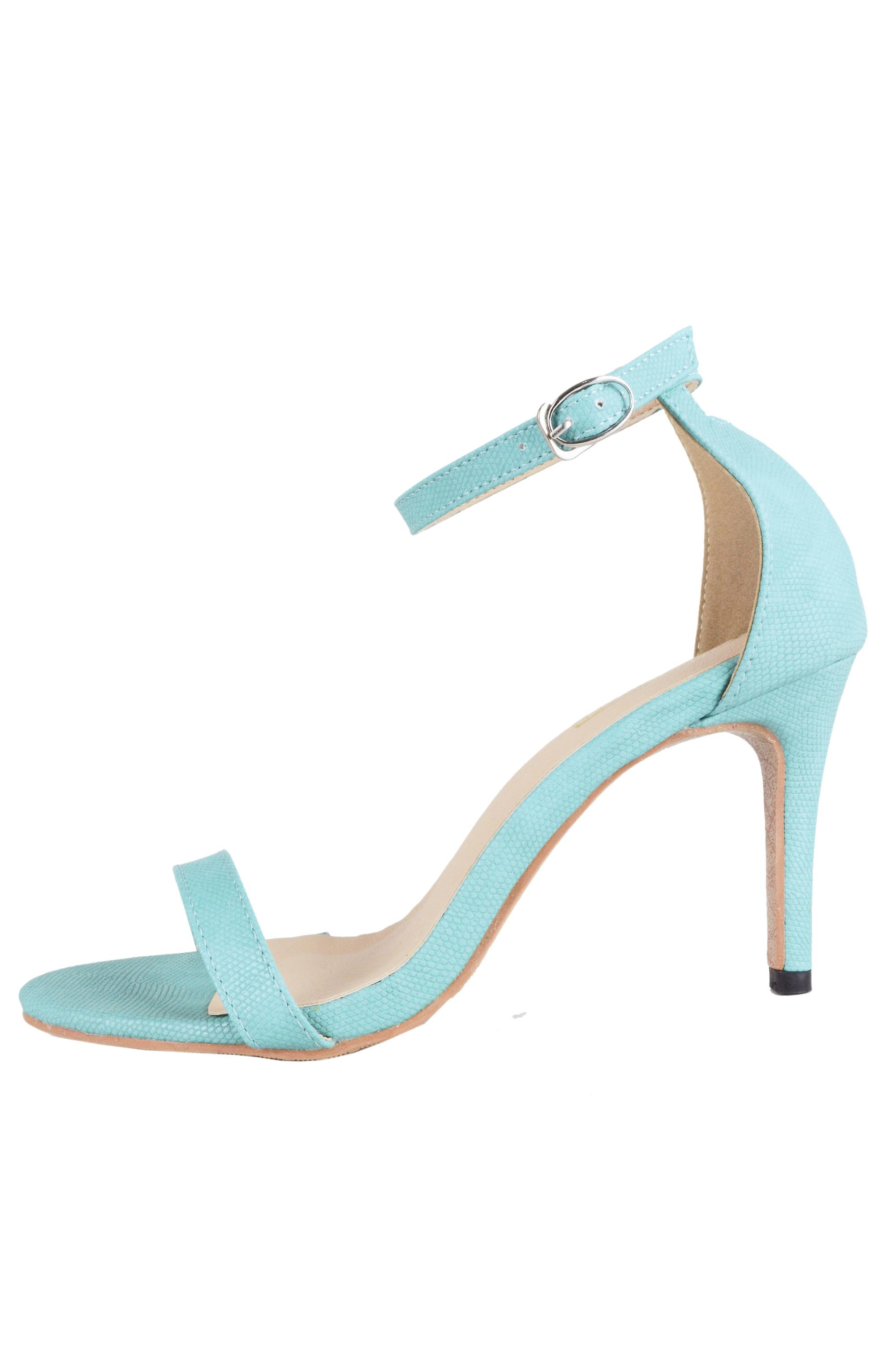 Lovemystyle Mint Blue Barely There Heeled Sandals