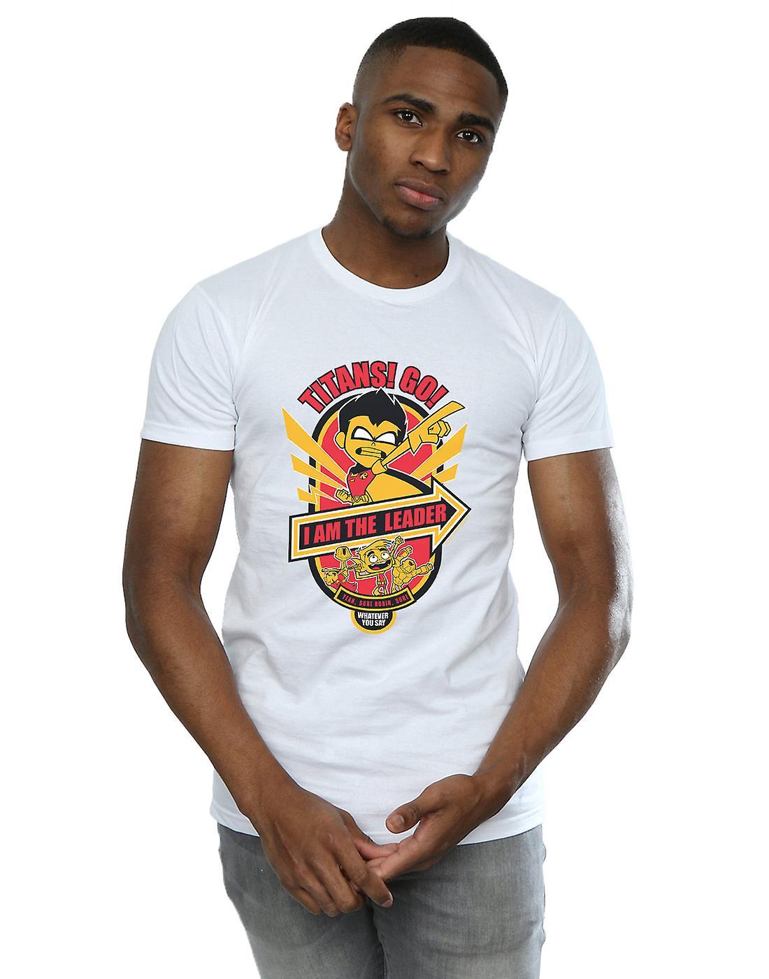DC Comics Men's Teen Titans Go I Am The Leader T-Shirt