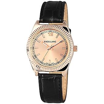 Excellanc 195235500029-wristwatch, different materials, color: black