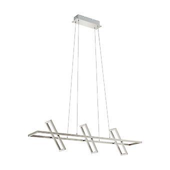 Eglo - Tamasara LED plafond rectangulaire grand pendentif en Nickel satiné et finition blanche EG96816