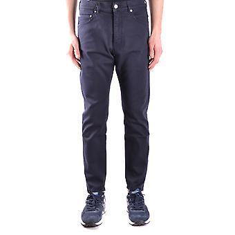 Paolo Pecora Ezbc059025 Men's Blue Cotton Jeans