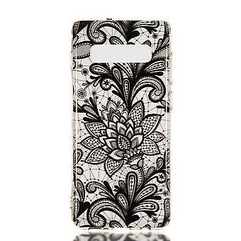 MTK Samsung Galaxy S10+ TPU  - Black Flower