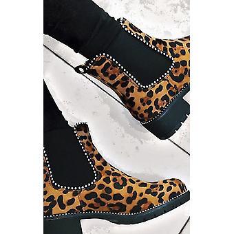 IKRUSH Tarra para mujer gamuza grueso tacón botas