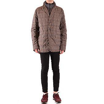 Herno Ezbc034025 Men's Brown Wool Outerwear Jacket