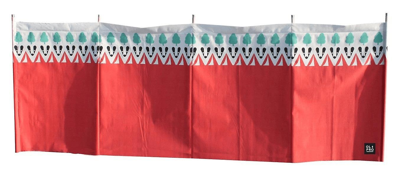 OLPRO Witley 5 Pole Windbreak Camping Shelter with Wooden poles 480cm x 130cm