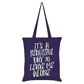 Grindstore It's A Beautiful Day To Leave Me Alone Tote Bag