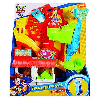 Imaginext Disney Toy Story Carnival Playset mit Woody Figur