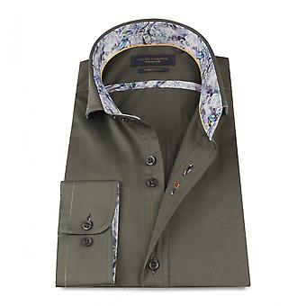 Guide London Smart Cotton Sateen Multi-Coloured Stitch Mens Shirt