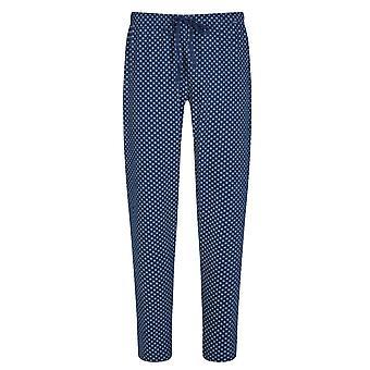Mey mężczyźni 21460-664 mężczyźni ' s Lounge Neptune niebieski dachówka drukuj bawełna Piżama Pyjama PANT