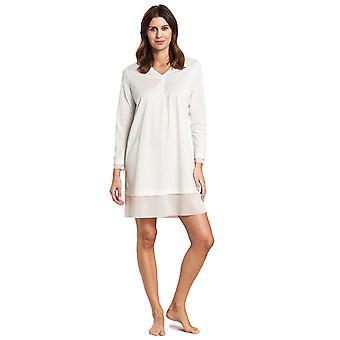 Feraud 3191073-11697 Women's High Class Ivory Off-White Cotton Sleep Shirt Nighty Nightshirt