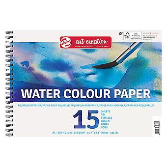 Talens Art Creation Water Colour Paper Spiral Pad A4