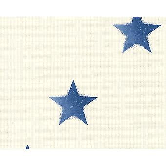 A.S. criação como criação estrela padrão papel de parede tecido Canvas efeito falso texturizado 351833