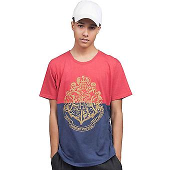 Harry Potter T Shirt Block Crest Red Blue new Official Mens Unisex