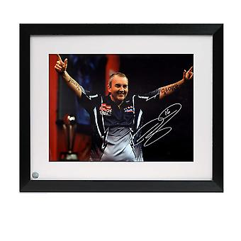 Phil Taylor Signed Darts Photo: Power And Glory. Framed