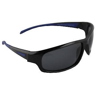 Sunglasses Sport Rectangle polarizing Glass black blue FREE BrillenkokerS329_2
