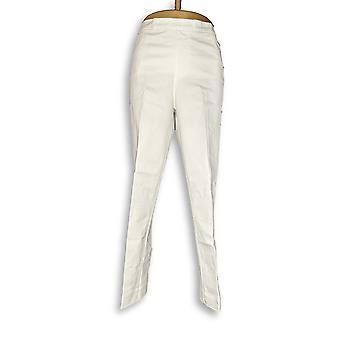 Isaac Mizrahi Live! Kvinner ' s bukser 24/7 hvit A311453