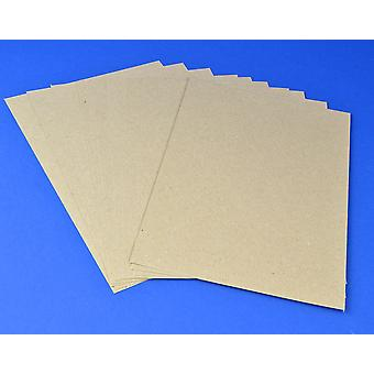 125 A4 Natural Brown Recycled Style Kraft Card Sheets | Coloured Card for Crafts