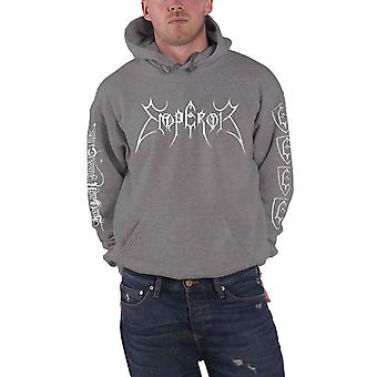 Emperor Hoodie In The Nightside Eclipse Band Logo Official Mens Grey Pullover