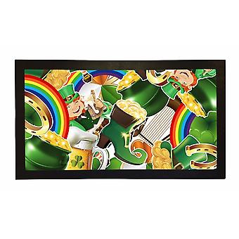 Printed Bar Runner Irish Leprechaun Rubber Bar Mat Mens Gift Idea