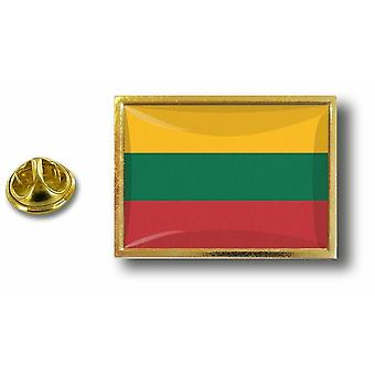 Pine PineS Badge Pin-apos;s Metal With Butterfly Brush Lithuanian Lithuanian Flag