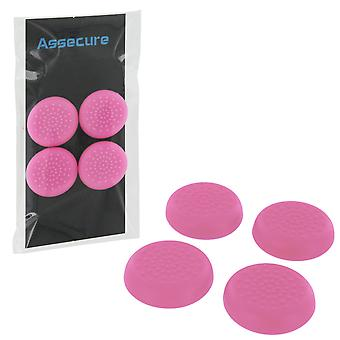 Tpu protective analogue thumb grip stick caps for sony playstation 4 controllers- 4 pack pink