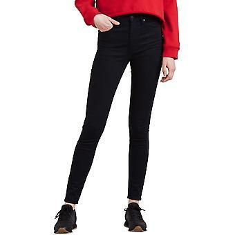 Levi's Mile High Super Skinny Denim Jeans Black Galaxy 40