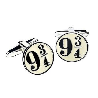 Harry Potter Plate-forme 9 3/4 Sterling Silver Cufflinks