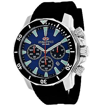 Seapro Men-apos;s Scuba Dragon Diver Limited Edition 1000 Mètres Blue Dial Watch - SP8344R