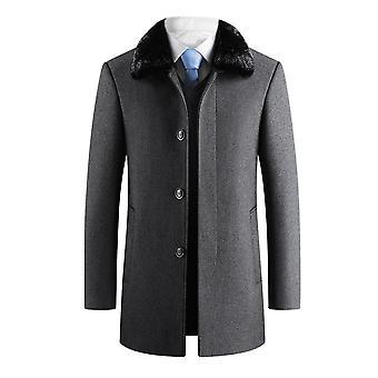 Allthemen miesten ' s irrotettava turkis kaulus muhkeat velet lämmin liike rento päällys takki