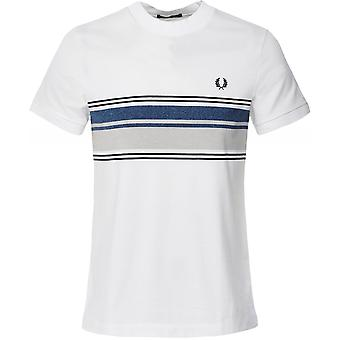 Fred Perry Crew Neck Marl Stripe T-Shirt M7573 100
