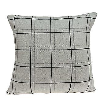 """20"""" x 7"""" x 20"""" Cubierta de almohada gris transicional con inserción de polietileno"""
