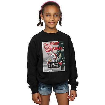 Looney Tunes Girls The Fight Before Christmas Sweatshirt