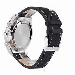 Seiko Chronograph Black Dial Leather Strap Quartz Men's Watch SSB271P1