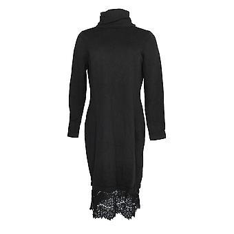 Isaac Mizrahi Live! Dress Turtleneck Sweater Black A296764
