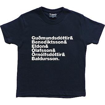 Die Sugarcubes Line-Up Navy Blue Kids' T-Shirt
