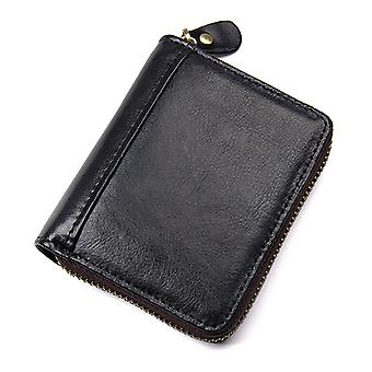 RFID Card Holder /wallet in real leather - black