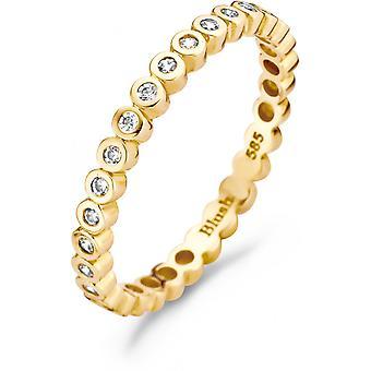 Ring Blush 11209YZI - Yellow gold ring and zirconium oxides serti closi 2/3mm Women