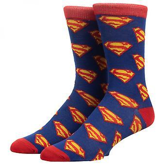 Superman All Over Print Crew Socks