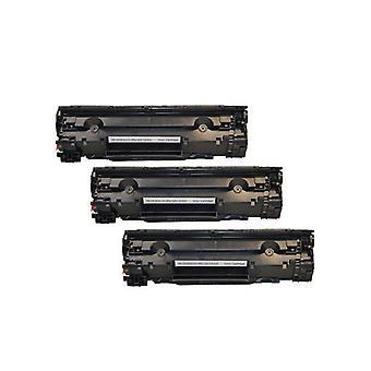 CE285A 85A Cart325 Black Generic Toner  (Set of 3)