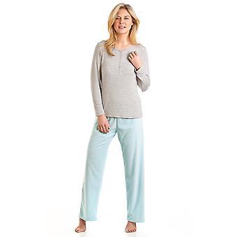 Damer La Marquise Spot Design Børstet Fleece Long Nightwear Pyjamas Nightwear 57304