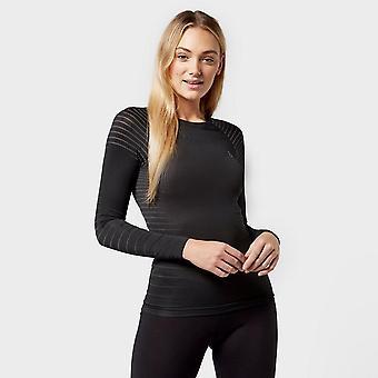 New Odlo Women's SUW Performance Light Long Sleeve Baselayer Top Black